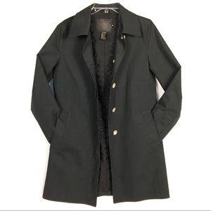 COACH Classic Black Lined Car Coat Rain ☔️ Coat